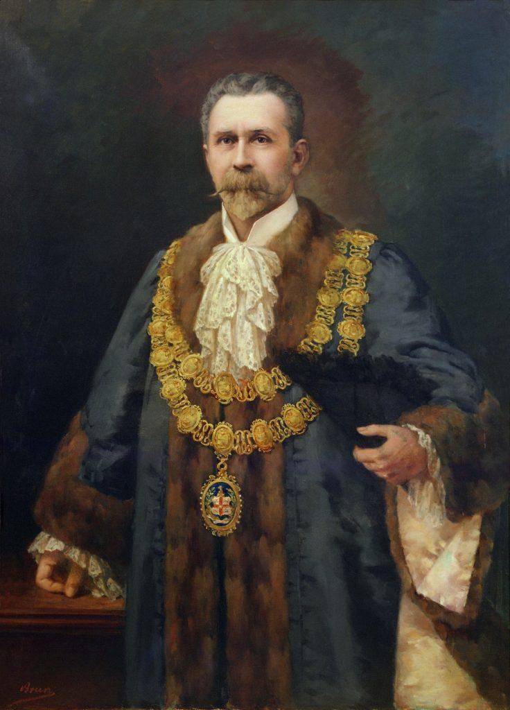 Portrait of Cr Sir Henry Weedon (Lord Mayor 1905-08)