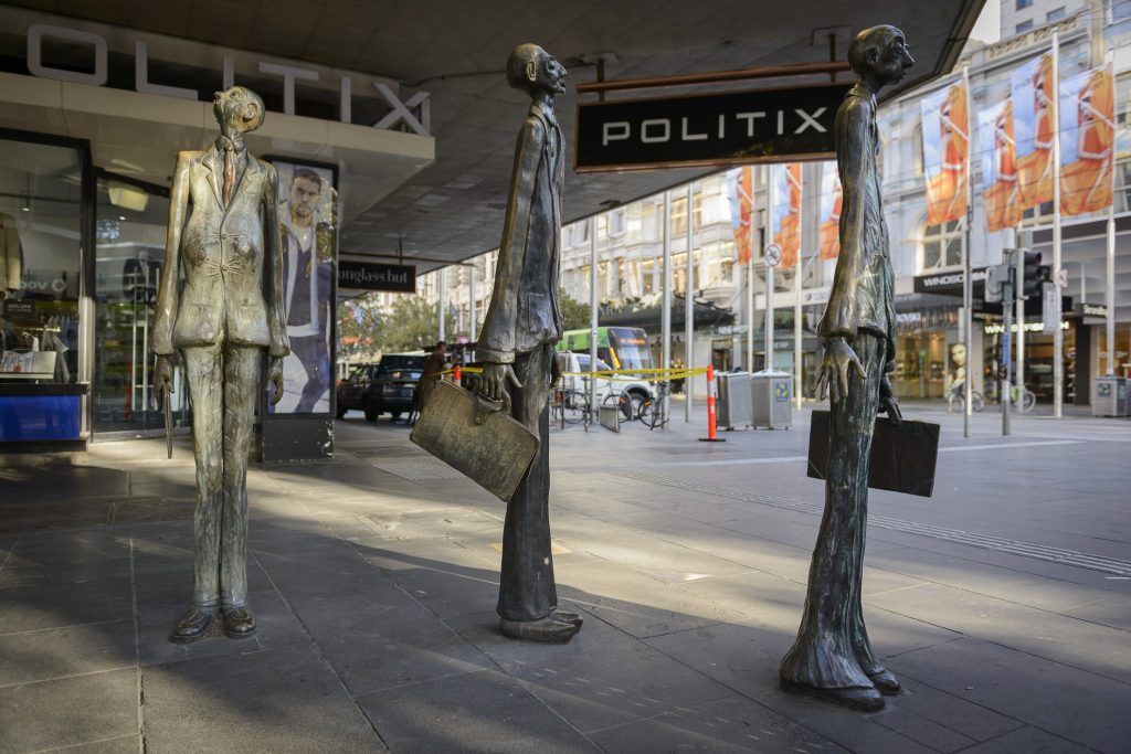 Three Businessmen Who Brought Their Own Lunch: Batman, Swanston & Hoddle
