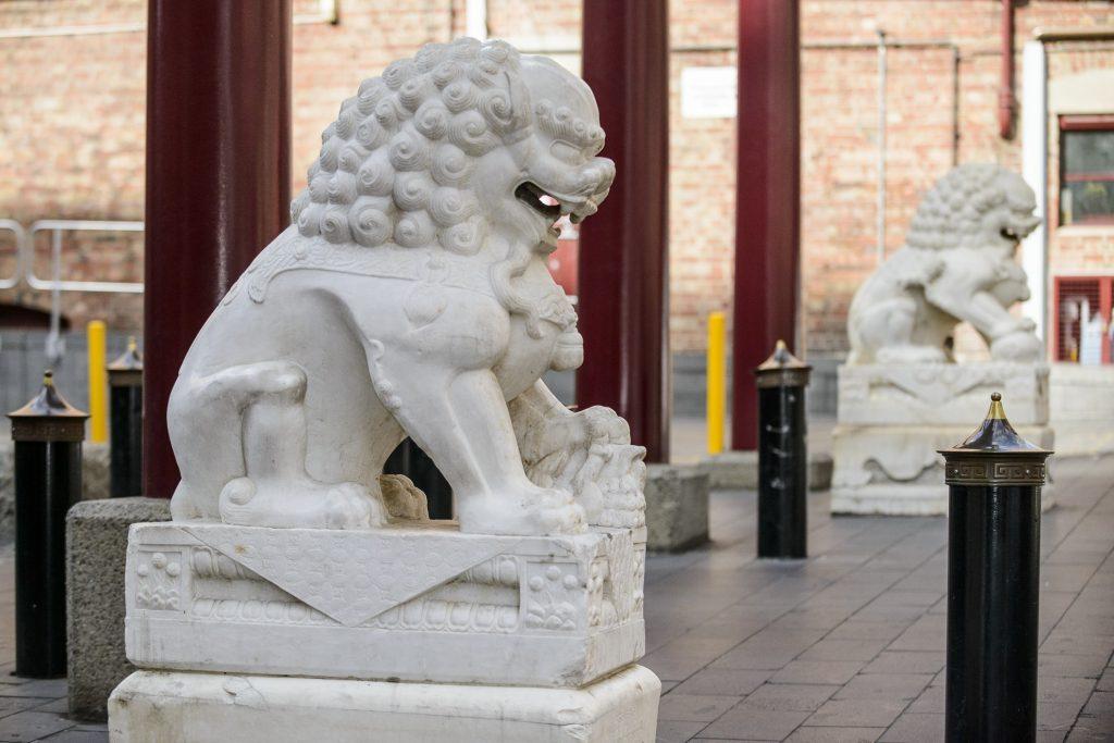 Tianjin Garden Chinese Lion Guardians