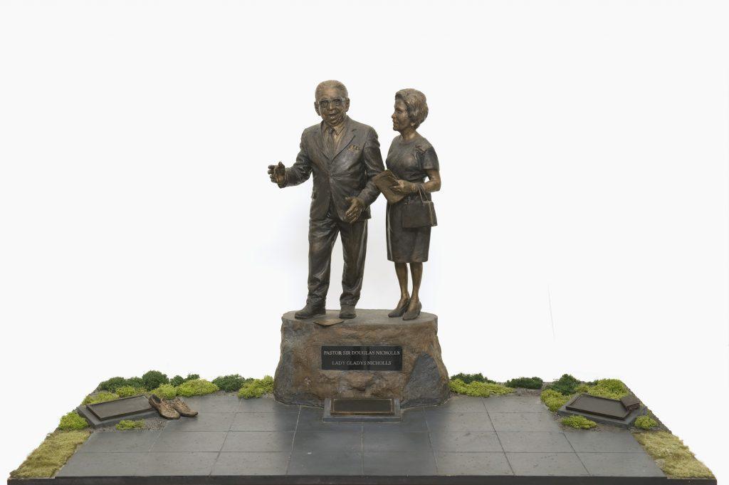 Maquette, Pastor Sir Doug and Lady Gladys Nicholls Memorial (aka Dungala Wamayirr)