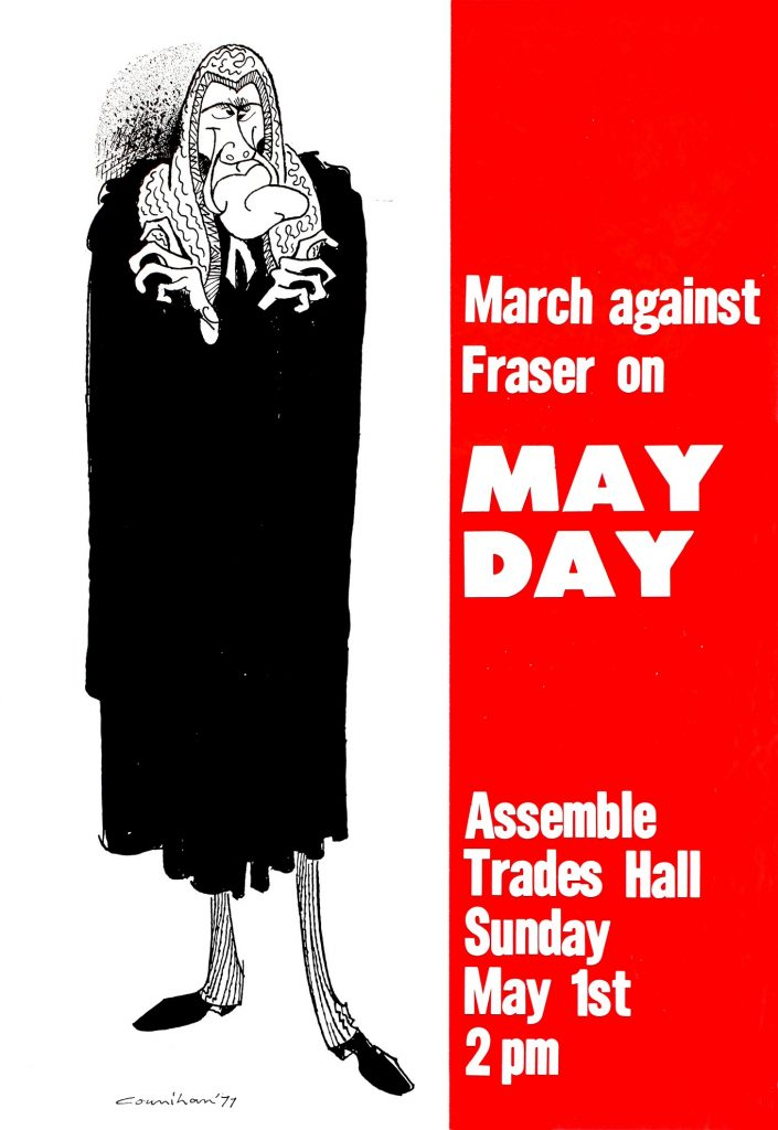 Poster, March against Fraser on May Day