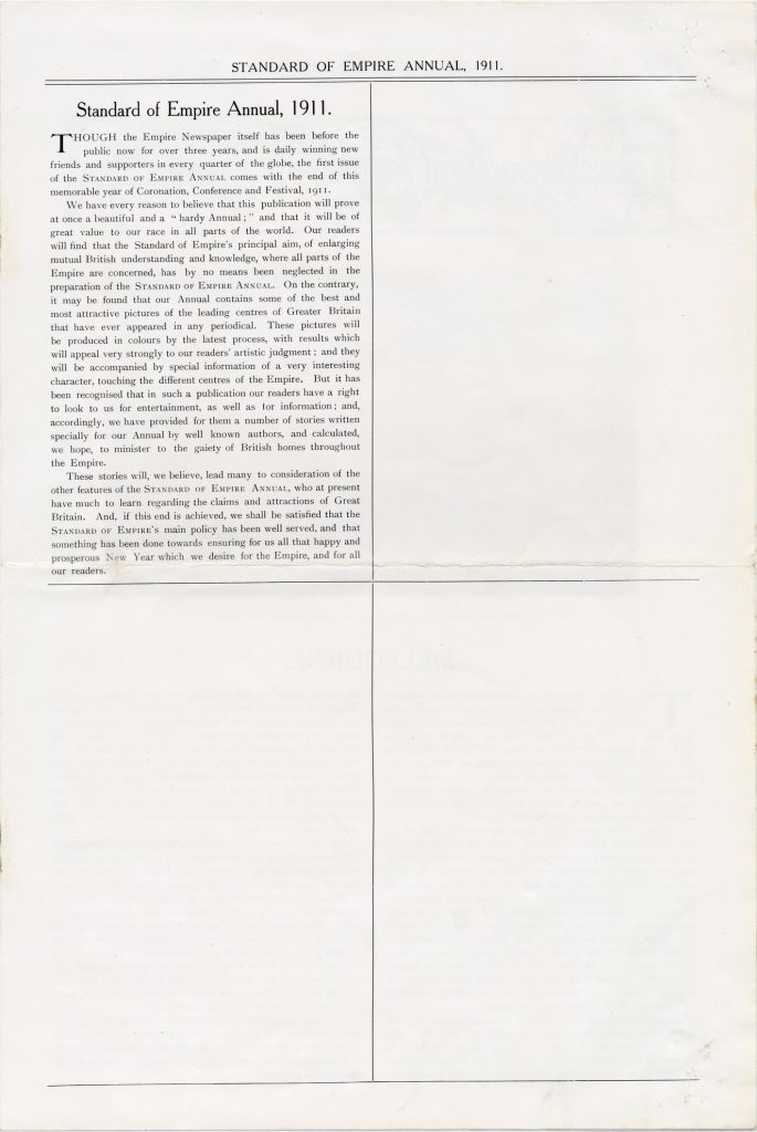 Standard of Empire Annual, excerpt from first issue
