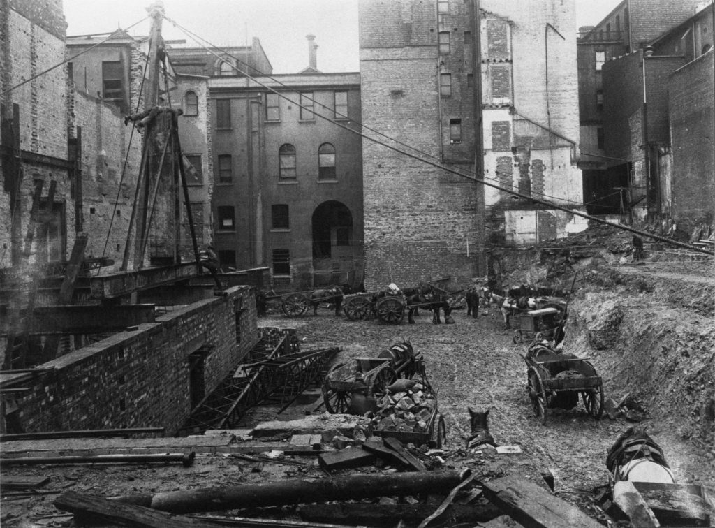 Early construction site