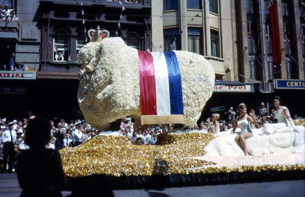 Australian Wool Board float, 1963