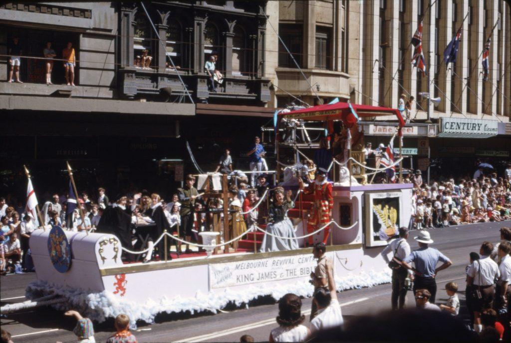 Melbourne Revival Centre float, 1964