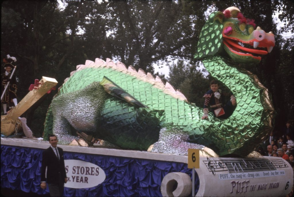 "Coles ""Puff the Magic Dragon"" float, 1964"