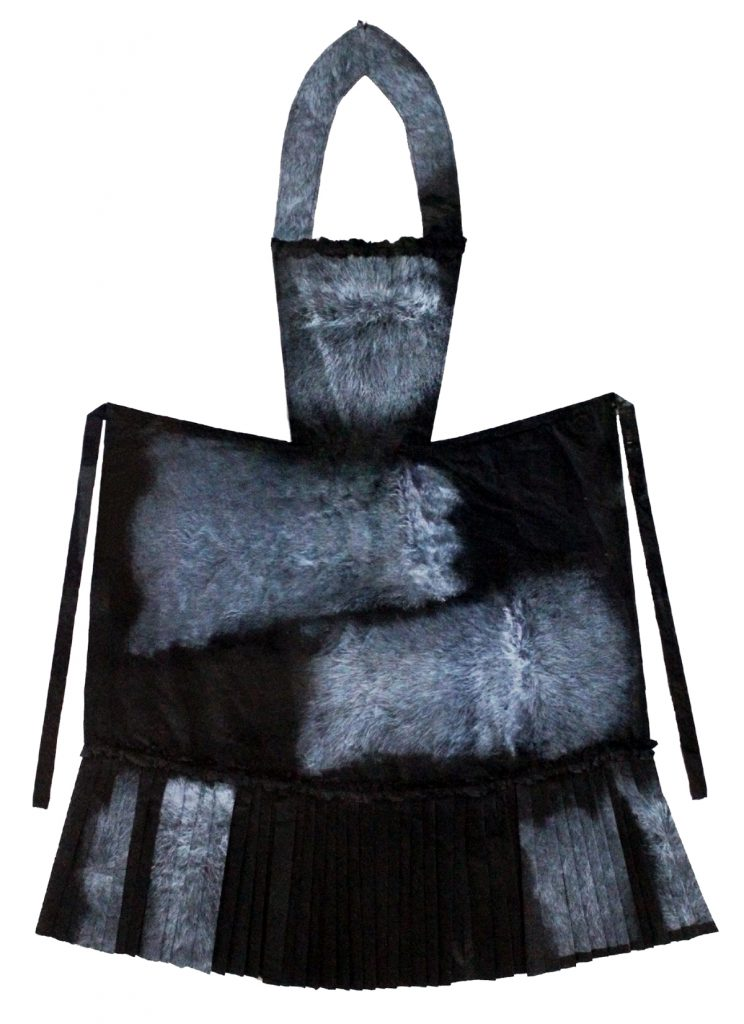 Wergaia Nana's possum fur apron, it's binary!