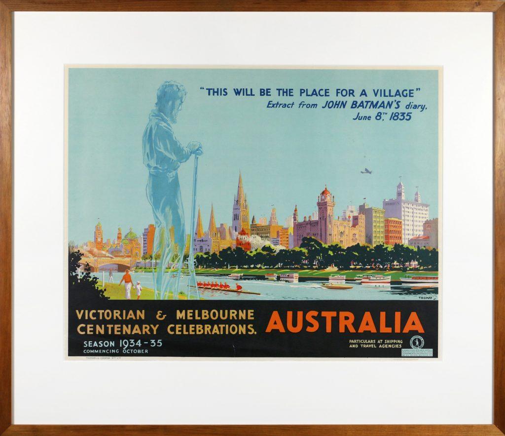 Poster, Victorian and Melbourne Centenary Celebrations / Australia
