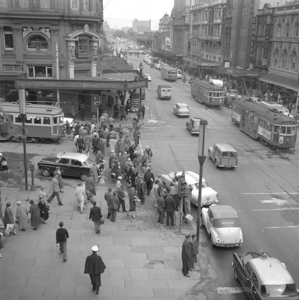 Unmarked book Negative A20 – Intersection of Swanston and Collins Street
