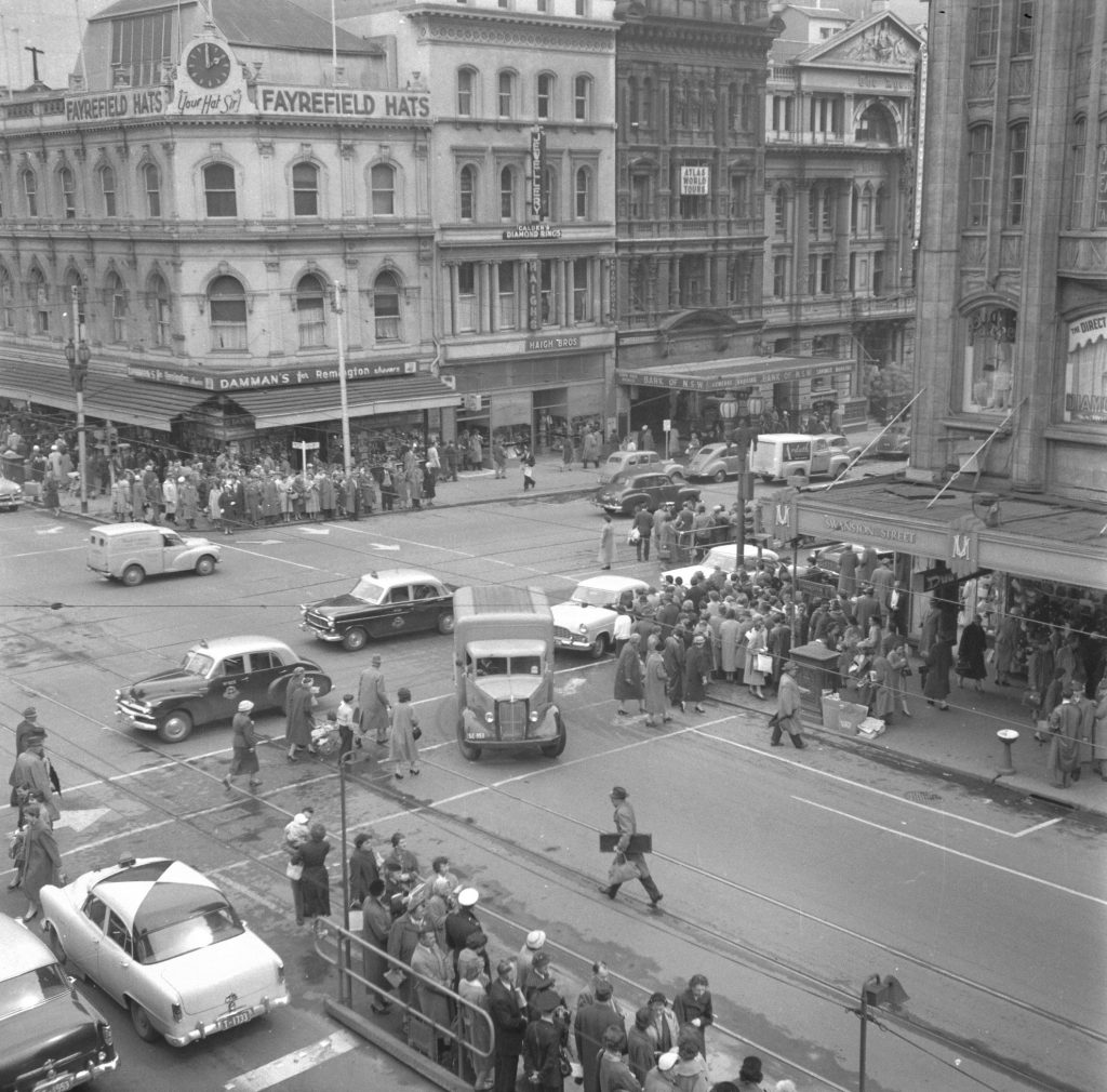 Unmarked Book Negative A21 – Intersection of Swanston and Collins Street