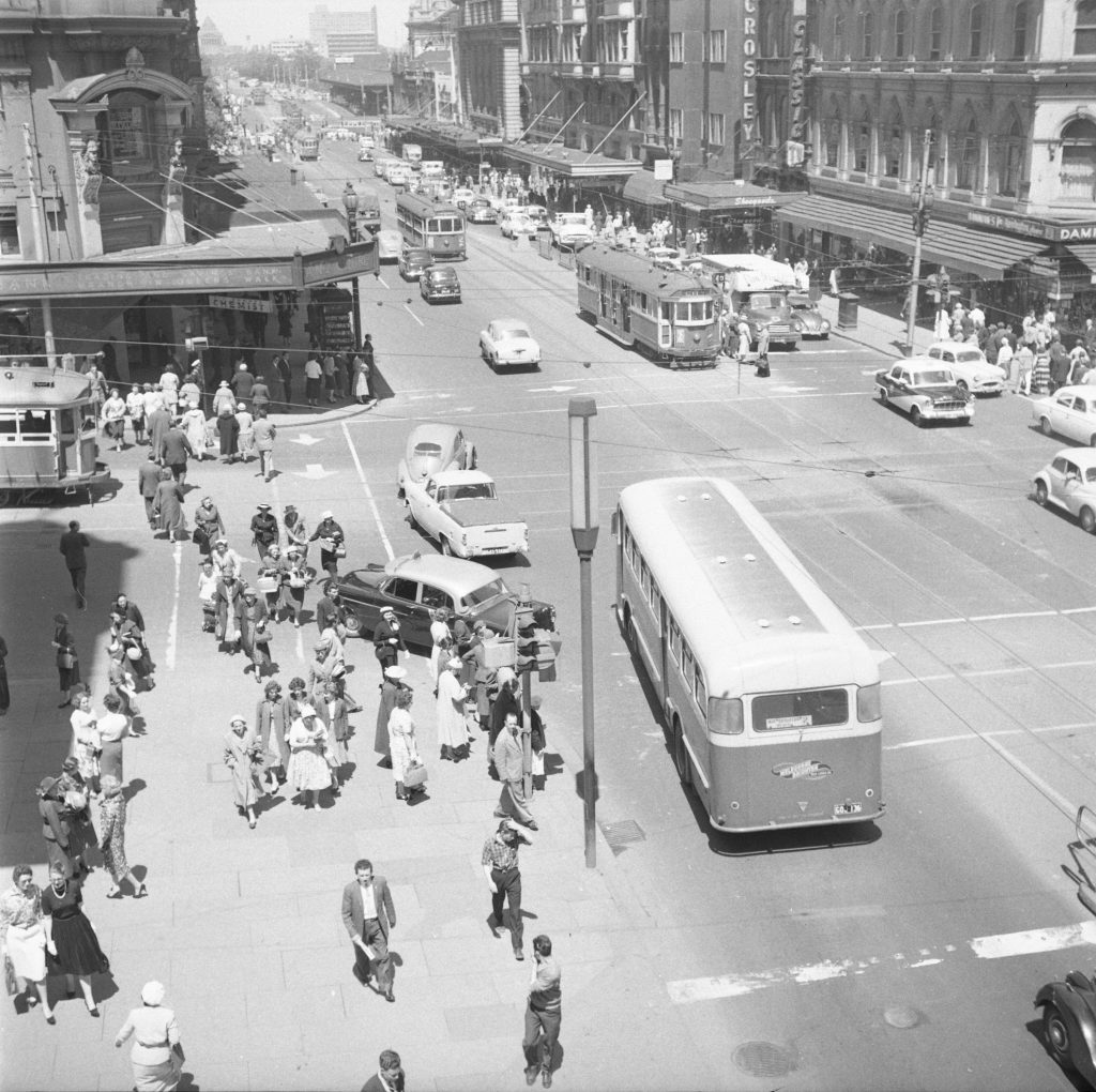 Unmarked Book Negative A22 – Intersection of Swanston and Collins Street