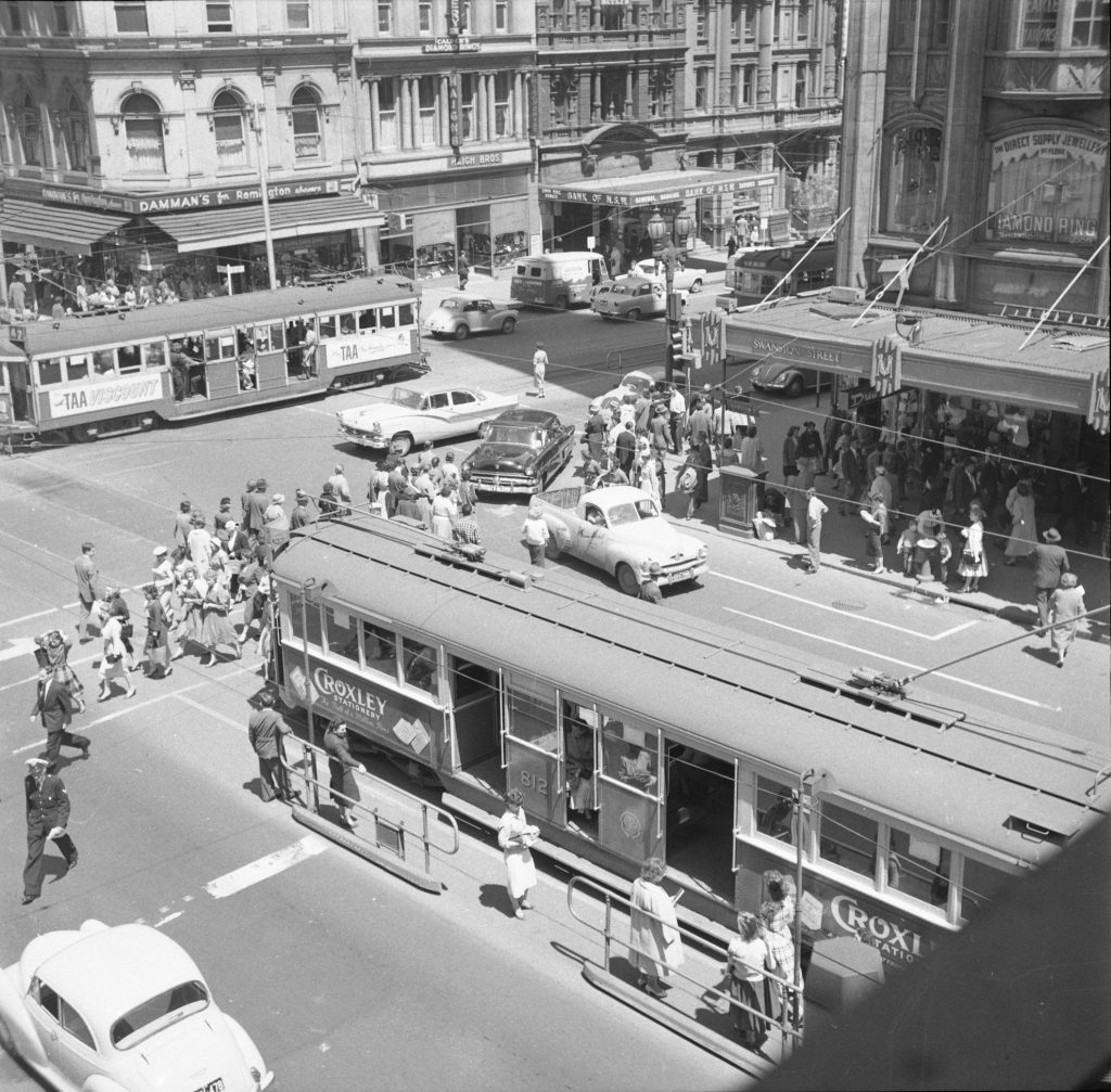 Unmarked Book Negative A23 – Intersection of Swanston and Collins Street