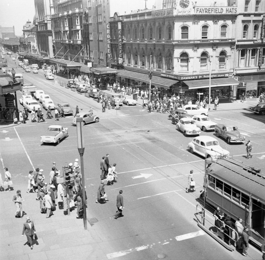 Unmarked Book Negative A24 – Intersection of Swanston and Collins Street