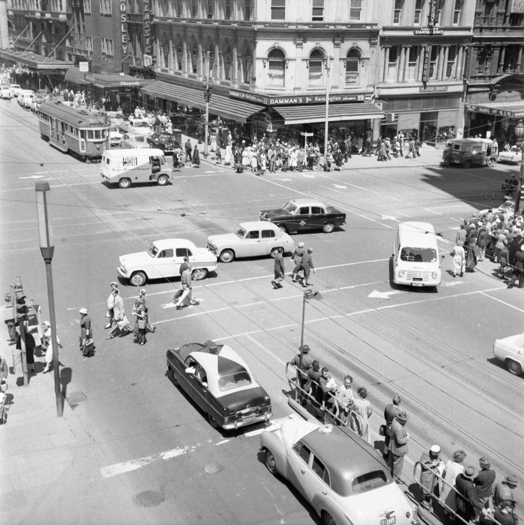 Unmarked Book Negative A25 – Intersection of Swanston and Collins Street