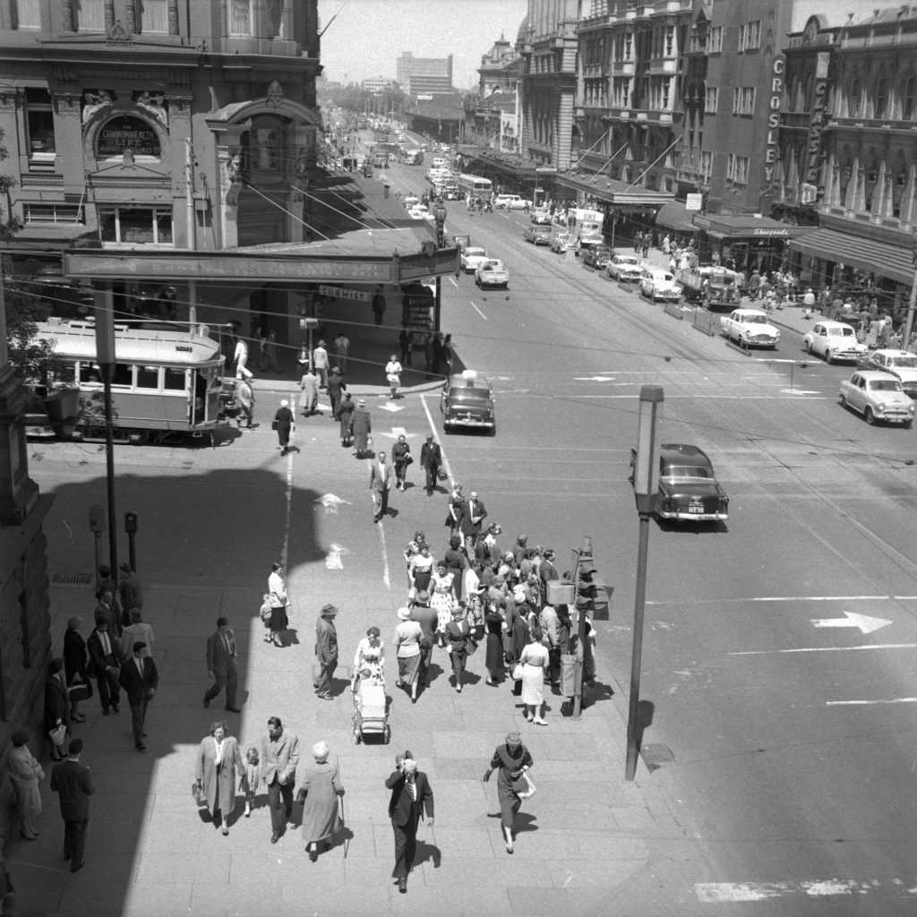 Unmarked Book Negative A28 – Intersection of Swanston and Collins Street