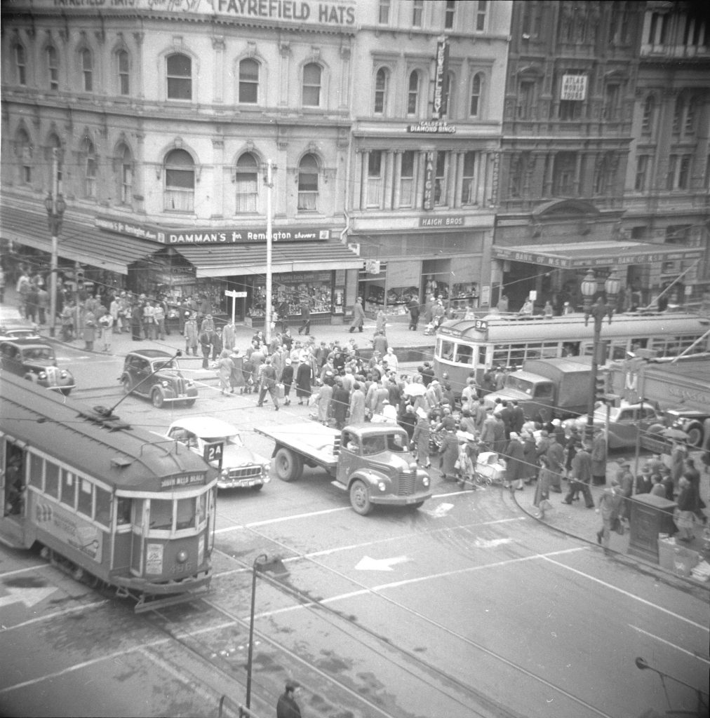 Unmarked Book Negative A34 – Intersection of Swanston and Collins Street