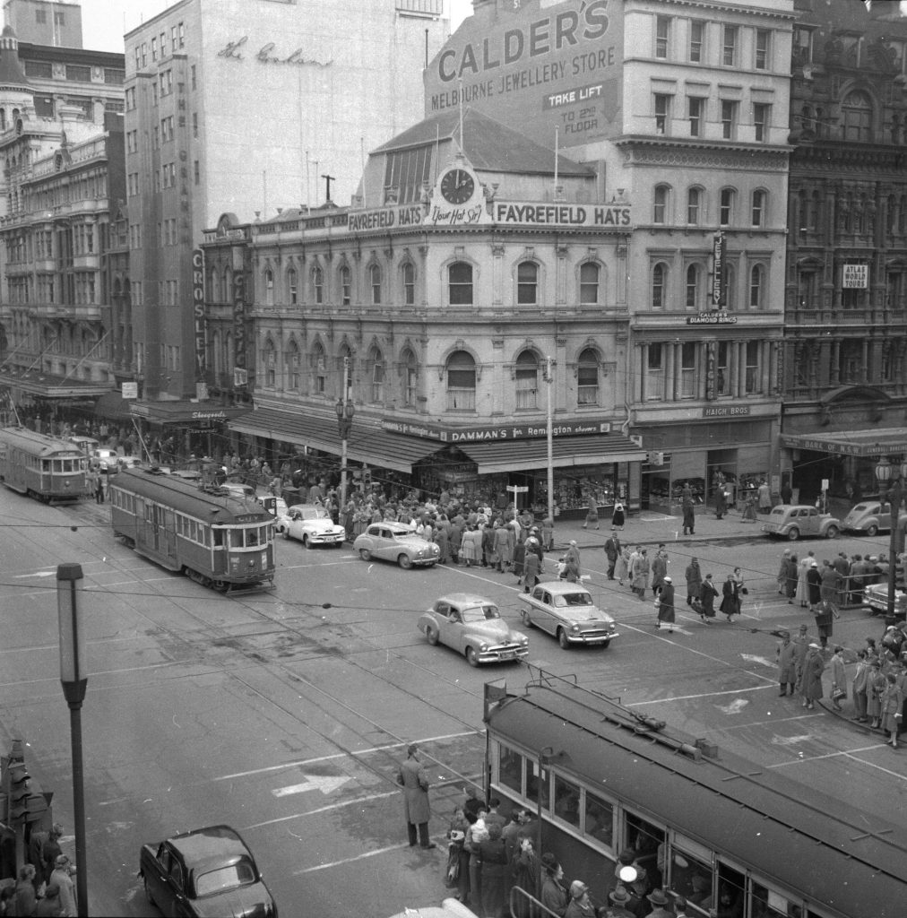 Unmarked Book Negative A35 – Intersection of Swanston and Collins Street