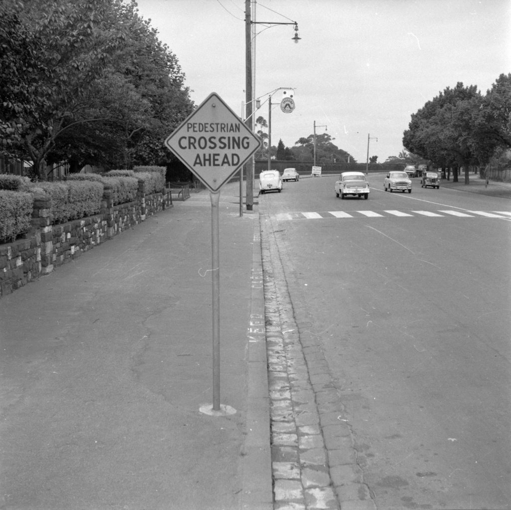 Unmarked Book Negative A45 – Pedestrian crossing and sign