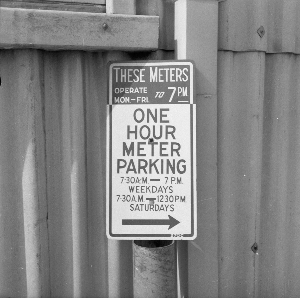 Unmarked Book Negative A60 – Parking sign
