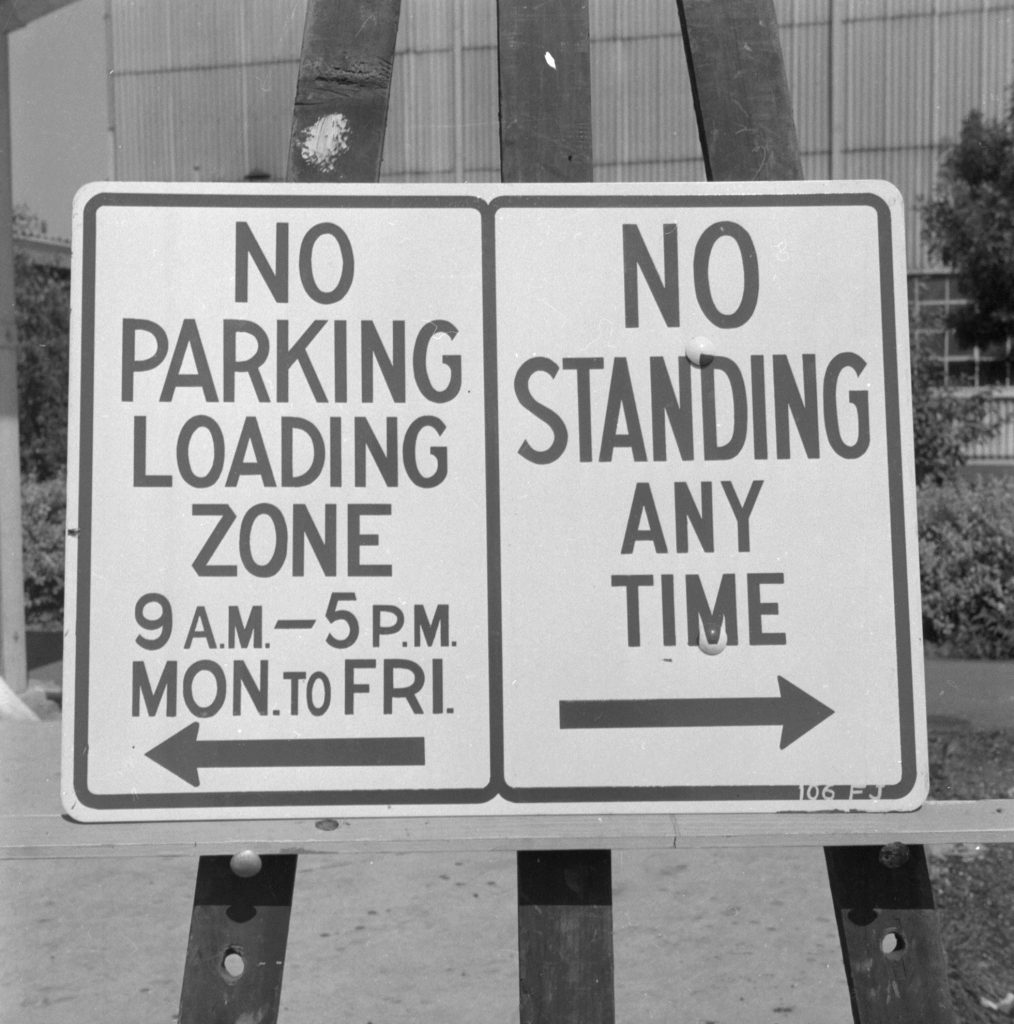 Unmarked Book Negative A63 – Parking sign