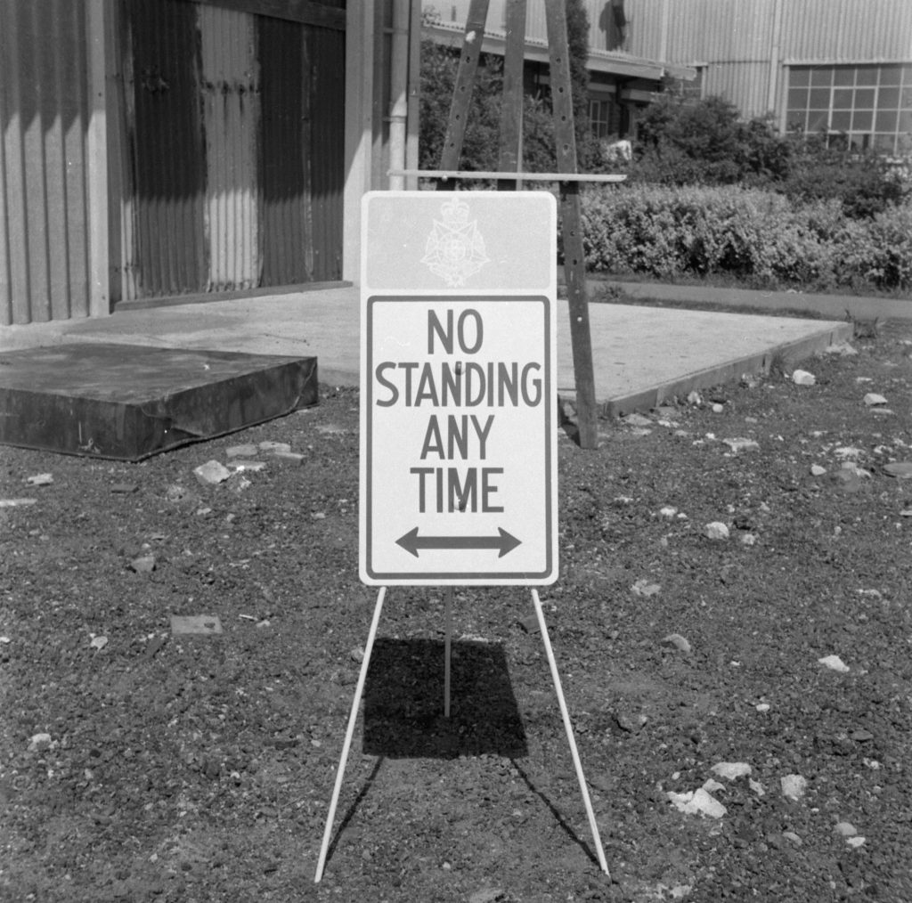 Unmarked Book Negative A68 – Parking sign