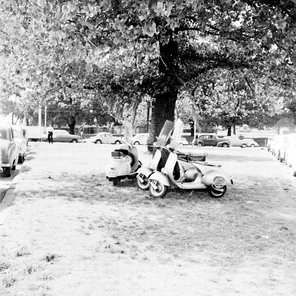 Unmarked Book Negative A75 – Parked scooters