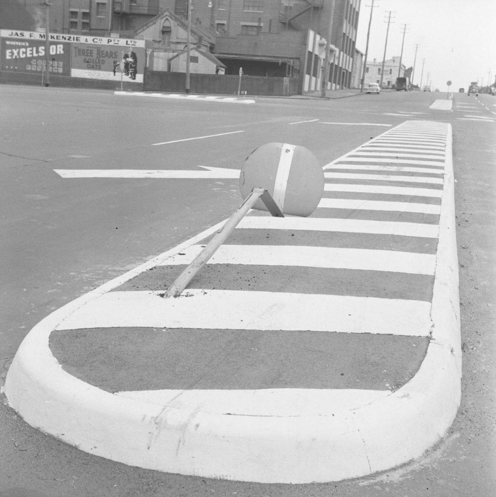Unmarked Book Negative A97 – Damaged street sign