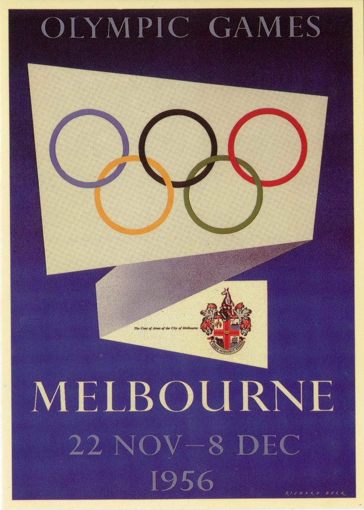 Postcard, Melbourne Olympic Games 1956