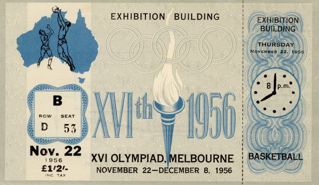 Ticket, 1956 Olympic, Basketball