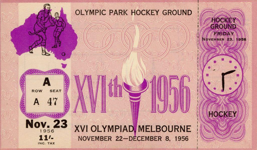 Ticket, 1956 Olympics, Hockey