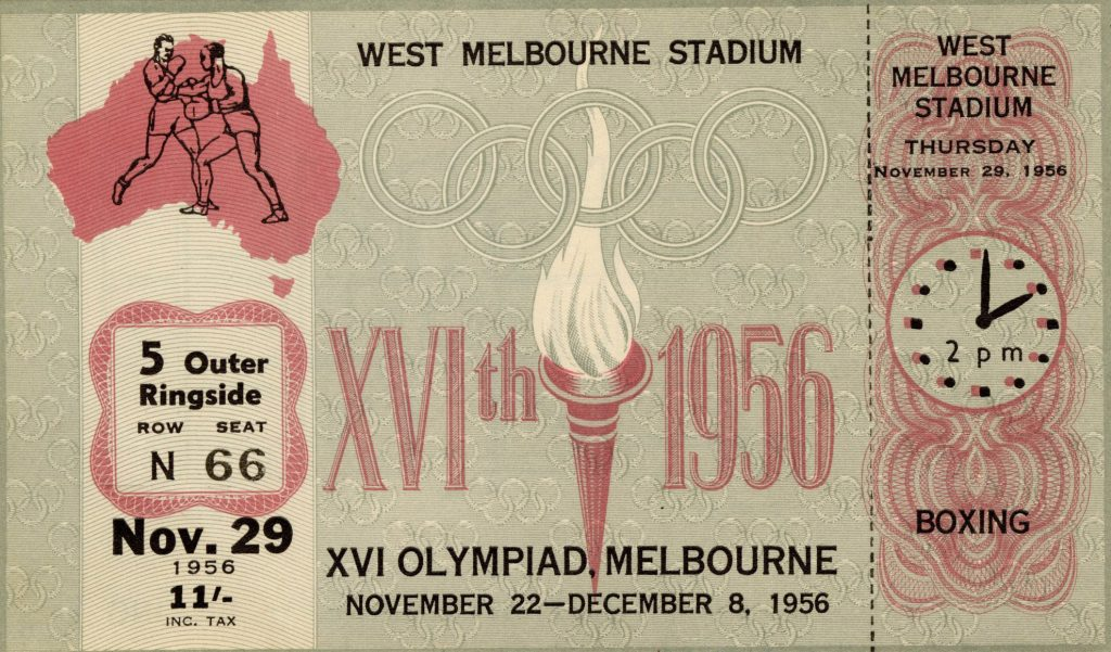 Ticket, 1956 Olympics, Boxing