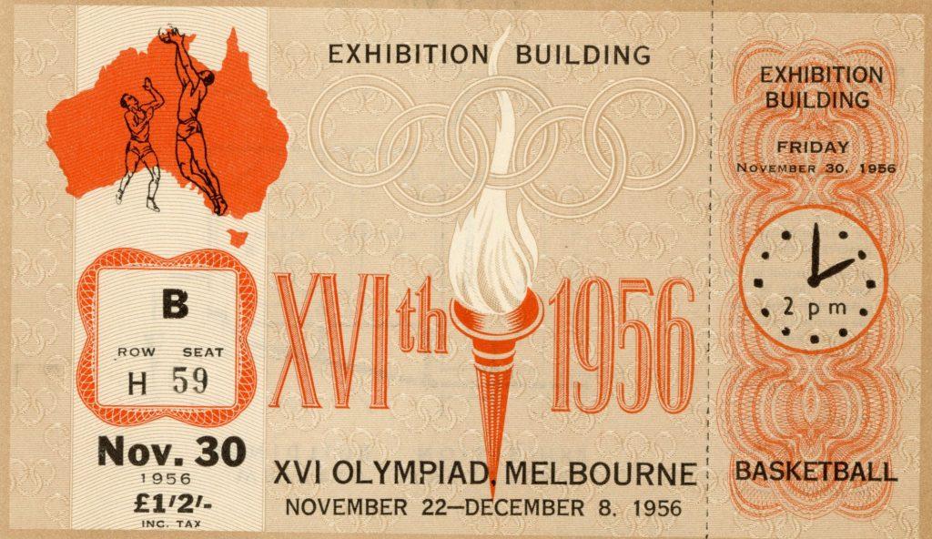 Ticket, 1956 Olympics, Basketball