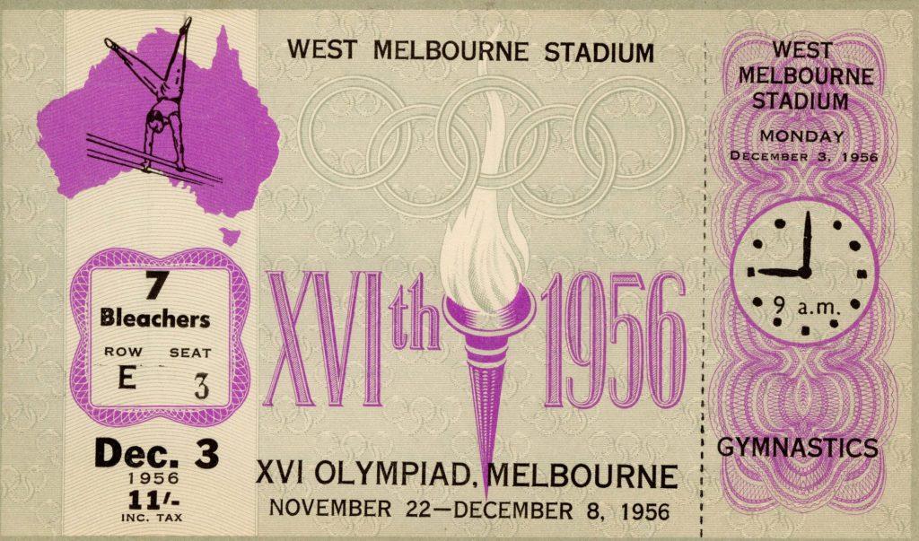 Ticket, 1956 Olympics, Gymnastics