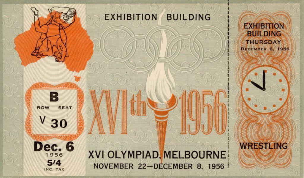 Ticket, 1956 Olympics, Wrestling