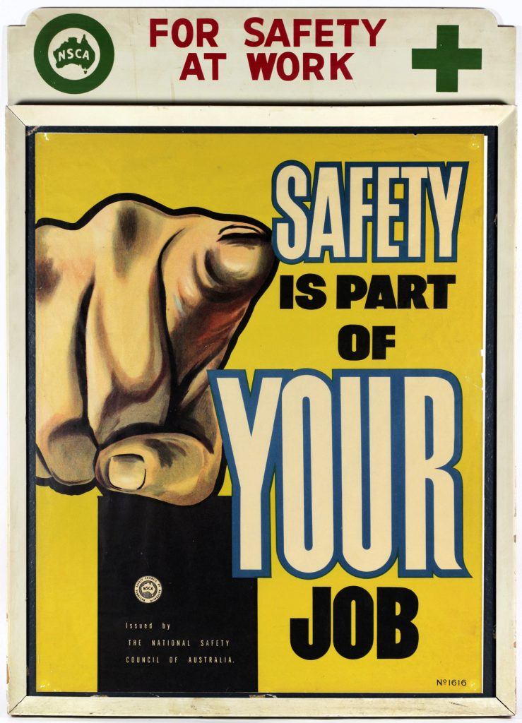 Poster, Safety is part of your job