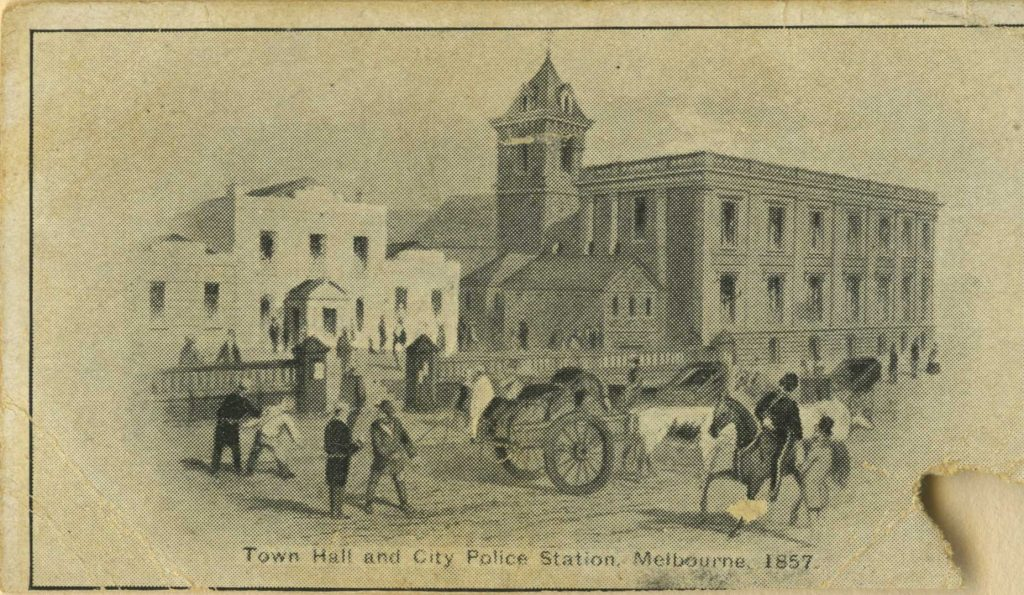 Cigarette card, Town Hall and City Police Station