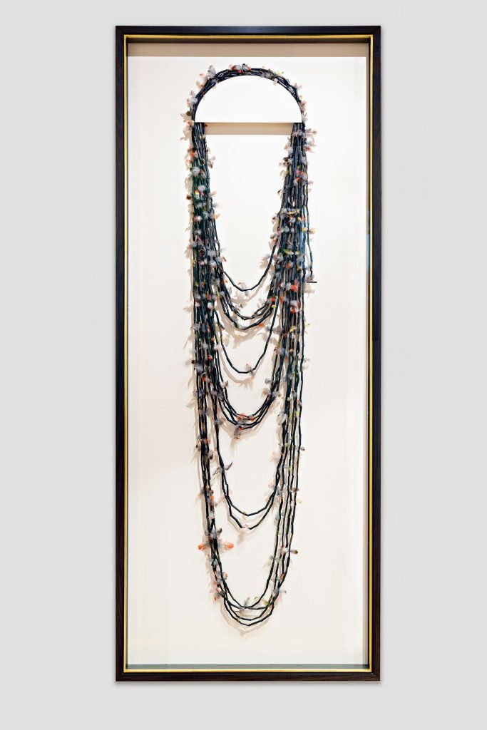 Maribyrnong river reed and feather necklace