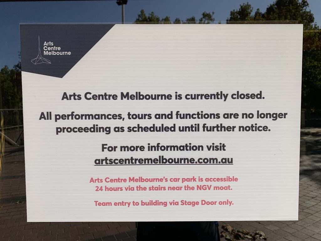 A Sign Of The Times (The Arts Centre) 1