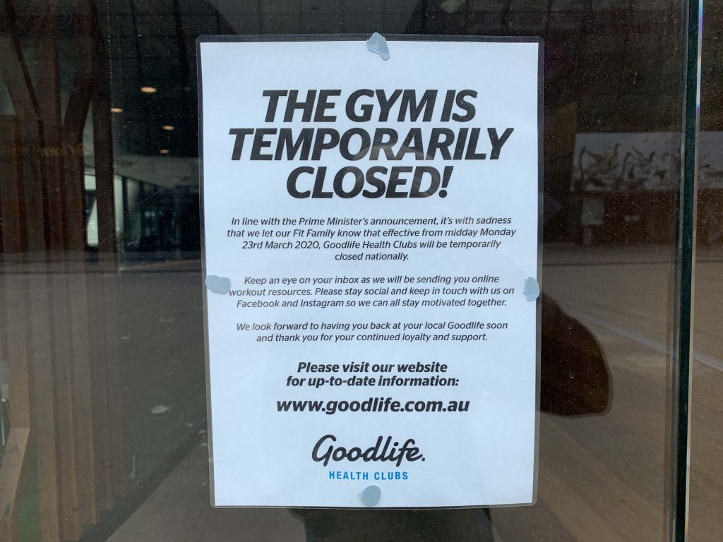 A Sign Of The Times (Goodlife Gym opposite Etihad Stadium) 1