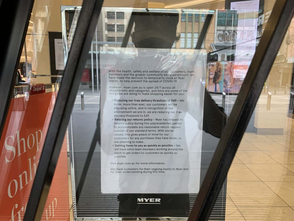 A Sign Of The Times (Myer on Bourke Street) 1