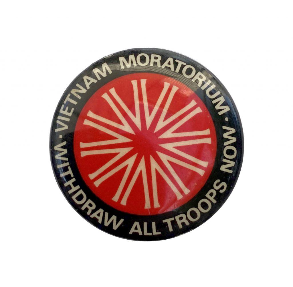 Badge, Vietnam Moratorium, Withdraw All Troops Now