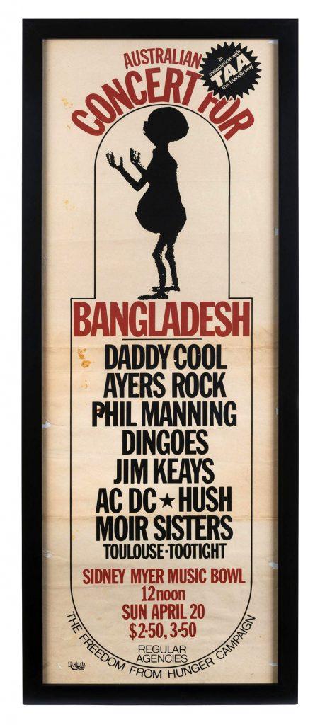 Poster, Australian Concert for Bangladesh