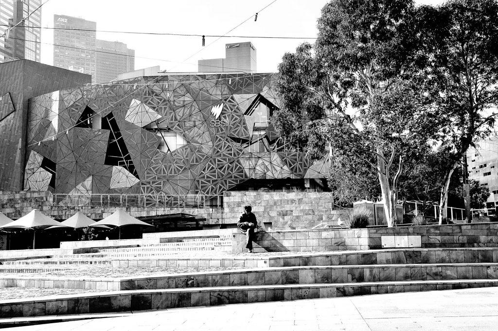 Solitude at Federation Square